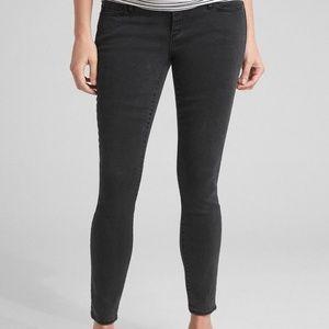 GAP MATERNITY Black True Skinny Full Panel Jeans